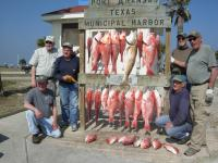 Click to enlarge image Channel Views Winter Texans displaying their catch of the day! A guided trip that proved to be the best in years!! - February 2014 - Winter Texans Go fishing!